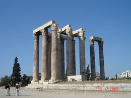 The temple is known as the Olympieion and was dedicated to Zeus, king of the Olympian gods., Olivia Z - August 2009