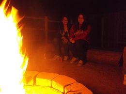 We got to sit around the campfire and hear the cowboys singing their songs., Barbara - November 2014