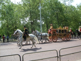 The Queen in her carriage on the way to Parliament for her speech to introduce her new government., Thomas W - June 2010