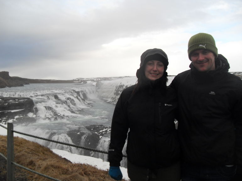 Us both at the top of Gulfoss - Reykjavik