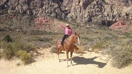 Me taking the beautiful tour with Clippymy horse at the Red Rock Canyon. , Yuridia B - September 2016
