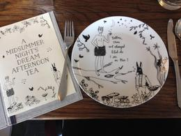 Love the A Midsummer Night's Dream illustrations on the menu and crockery., emmaknock - August 2016