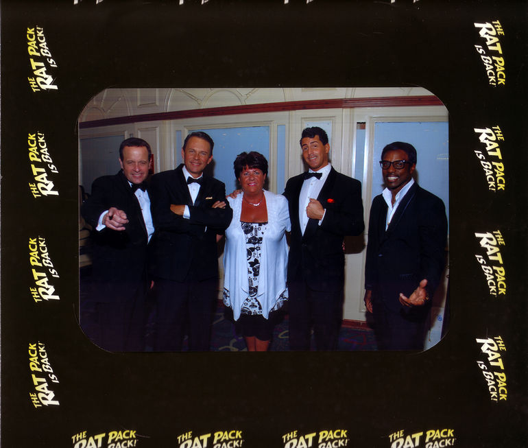 Cast of the Rat Pack(wife in middle). - Las Vegas