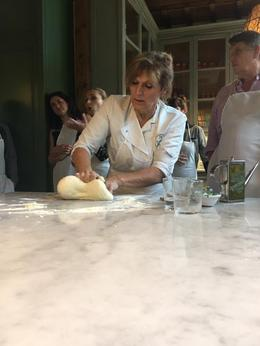 Our lovely Italian Chef teaching us to make pizza dough, Tyler - December 2016