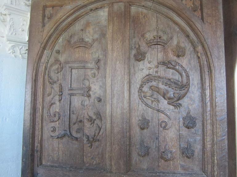 Door inside Chambord Chateau - Paris