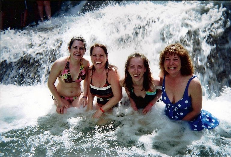 Dunns River Falls: Two sisters with their daughters having a great time! - Montego Bay
