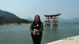 It's an iconic landmark in Miyjima leading to the Itsukushima Shinto Shrine , Catherine C - May 2015
