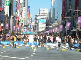 Sunday afternoon, Ginza shopping district. Taken after tour ended at Ginza. - November 2007