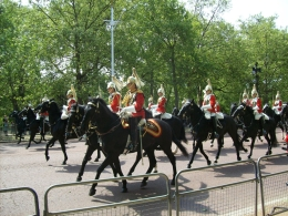 The Horse Guards follow the royal carriage., Thomas W - June 2010