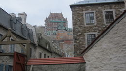 A view of Chateau Frontenac from Petit Champlain village , Evonne M P - April 2012