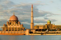 Masjid (Mosque) Putra in Putrajaya, Malaysia near Kuala Lumpur - July 2011