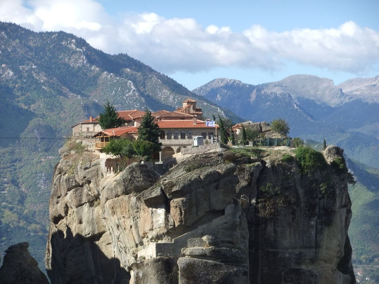 Mountain-top monastery at Meteora, Greece - Athens