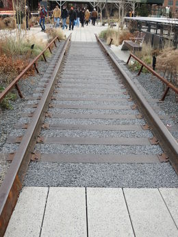 Nice job converting the old rails, Patricia P - July 2015