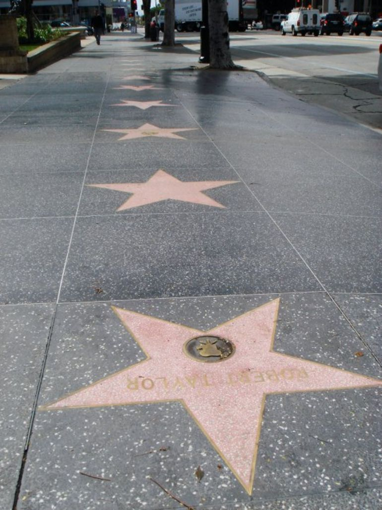 Stars on the Walk of Fame, Hollywood - Los Angeles