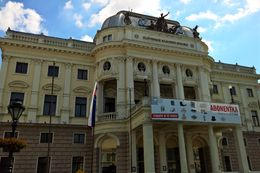 The theater in Central Bratislava , vietdiaspora - June 2016
