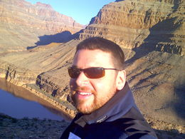 Soaking in the sun and the beautiful scenery while Celebrating my Birthday with a surreal early morning helicopter ride into the Grand Canyon! , Paul C - March 2013