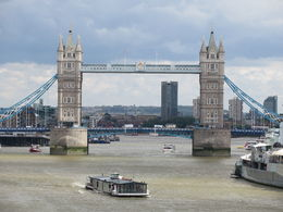 A shot of Tower Bridge taken on the river cruise part of the tour. , Susan B - July 2015