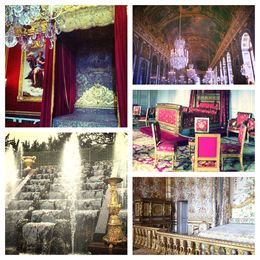 In the palace bedrooms, the gardens, and hall of mirrors , Olivia R - June 2013