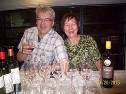 Charlie and Carol enjoying wine tasting , Helen M - December 2015
