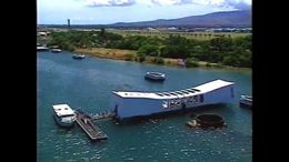 The view of the Arizona Memorial off the coast of Oahu! - July 2011