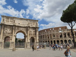 Bus stops right in front of the Colosseum! What a beautiful sight!! Tour the inside it is amazing! , Tjames - July 2016
