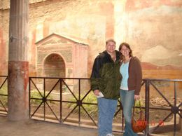 Standing in front of a garden fountain, the tiles to this day, are filled with beautiful vibrant colors. - December 2007