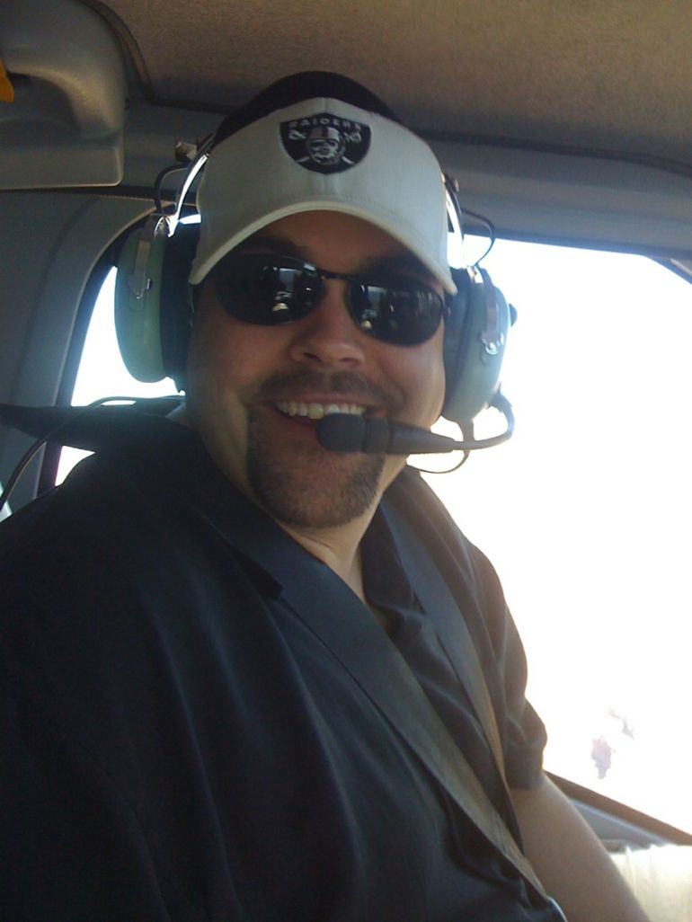 In the helicopter - Las Vegas