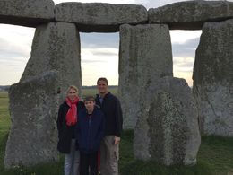 Allison, Jason and Jack, on a private tour inside the stone circle - early June, 2015. , Allison M. - July 2015