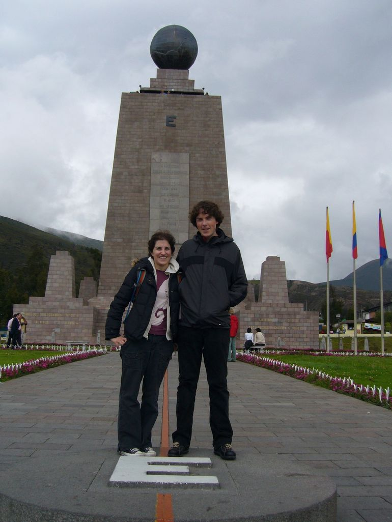 Kelly and Jacob at Equator - Quito