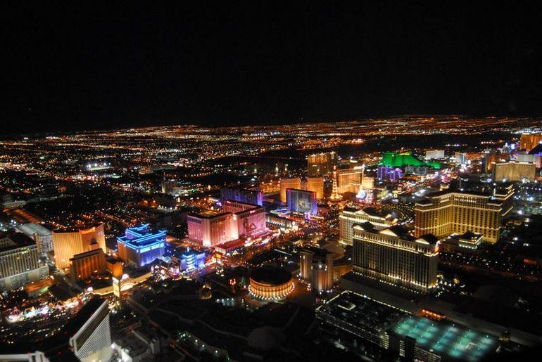 Las Vegas Night Helicopter Flight  Photo By Jeff  Viator