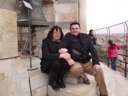 Me and my wife at the top of the leaning tower. , Steven E - April 2013