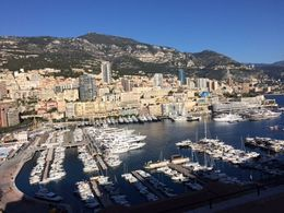 Monaco ... Marina view from the mountain side , Bev Chislett - January 2016