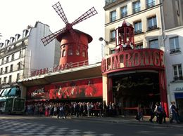 The ever famous Moulin Rouge from the Boulevard Clichy , Kat - June 2012