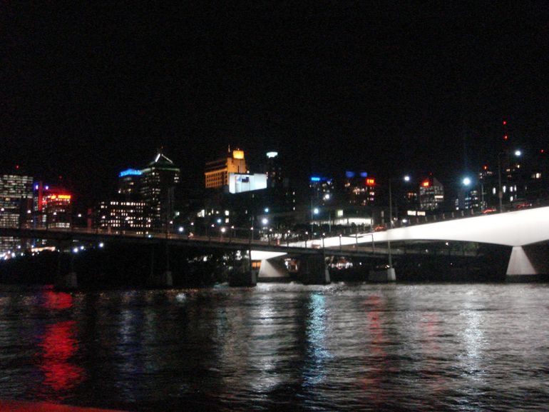 Night View on board the river cruise - Brisbane