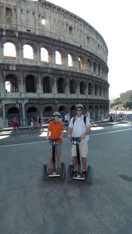 Josh and Dad in front of the Colosseum, August 2009, Scott C - August 2009