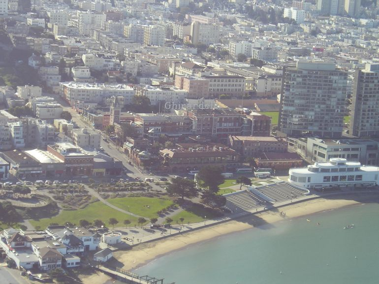 San Francisco Helicopter Tour - Ghirardelli Square - San Francisco