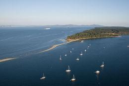 Islands in the Strait of Juan de Fuca as seen from seaplane - December 2011