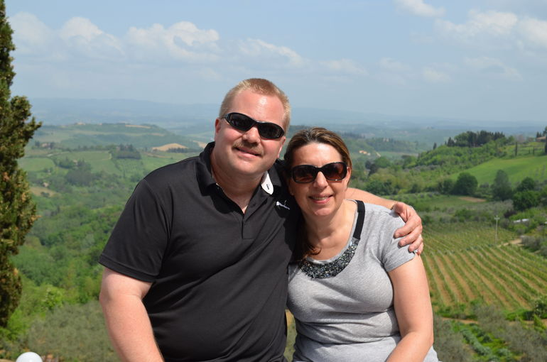 Skip and Kathi in San Gmimignano - Florence