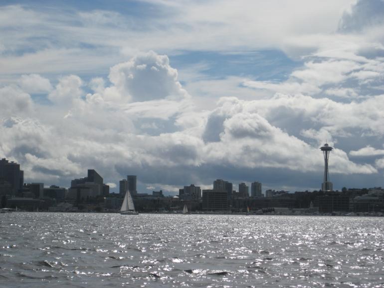 Space Needle in Seattle Skyline - Seattle