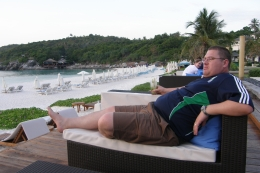 Relaxing at the bar., Tighthead Prop - November 2010