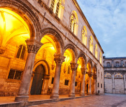 Night scene In Dubrovnik's Old Town, Rector's Palace - June 2011