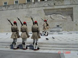 Changing of the guard in front of The Tomb of the Unknown Soldier, Athens, Olivia Z - August 2009