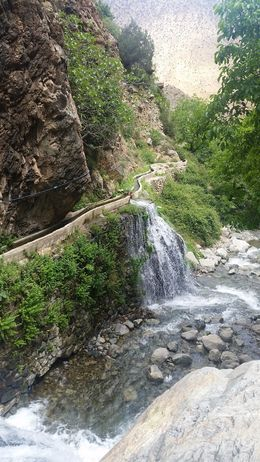View from about half way up the waterfall , Lisa W - June 2015