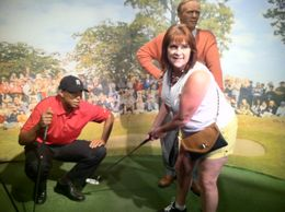 Wax Museum. Las Vegas. Nevada Golfing with the pros , Joy P - July 2012
