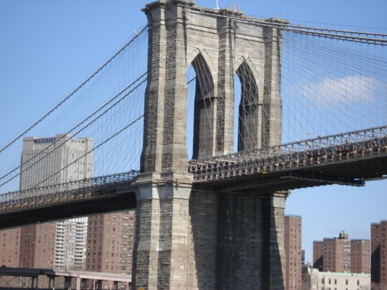 Close-up - Brooklyn Bridge - New York City