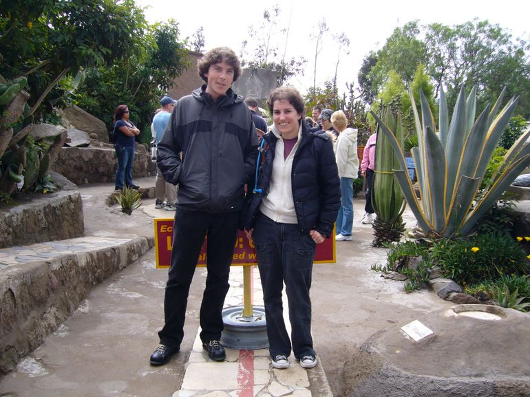 Jacob and Kelly at real Equator - Quito