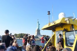 Lady Liberty from water taxi , Aletheia F - October 2015