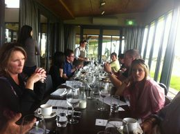 Lovely lunch and wine at Balgownie vinyards , Nola T - September 2013