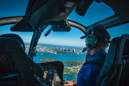 My wife was lucky enough to have the best seat in the house so I just had to take this. Our chopper had more then enough window space to take in all the amazing views Sydney has to offer. , Greg K - June 2013
