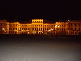 Schonbrunn Castle at night - April 2010